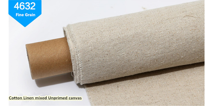 Unprimed linen canvas ,canvas roll , canvas fabrice , cotton linen