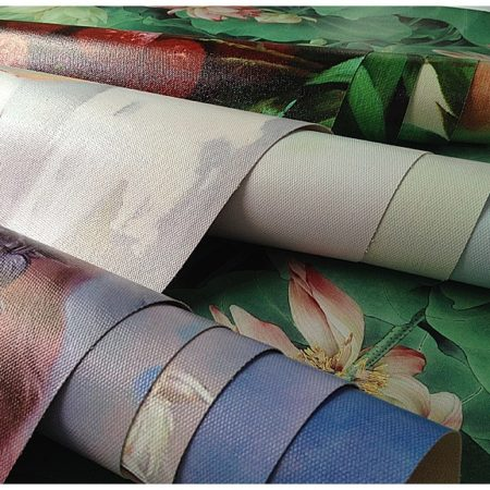 glossy solvent cotton canvas roll